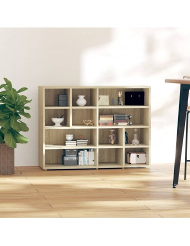 Šoninė spintelė, ąžuolo spalvos, 97x32x72cm, MDP | Spintos ir biuro spintelės | duodu.lt