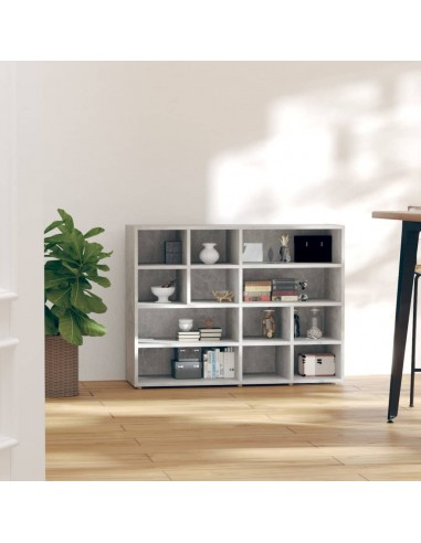 Šoninė spintelė, betono pilkos spalvos, 97x32x72cm, MDP | Spintos ir biuro spintelės | duodu.lt