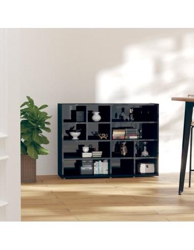 Šoninė spintelė, juodos spalvos, 97x32x72cm, MDP, blizgi | Spintos ir biuro spintelės | duodu.lt