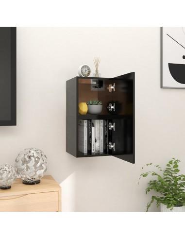 Sieninės televizoriaus spintelės, 2vnt., juodos, 30,5x30x30cm    Pramogų Centrai ir TV Stovai   duodu.lt
