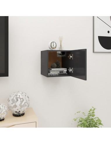 Sieninė televizoriaus spintelė, pilka, 30,5x30x30cm  | Pramogų Centrai ir TV Stovai | duodu.lt