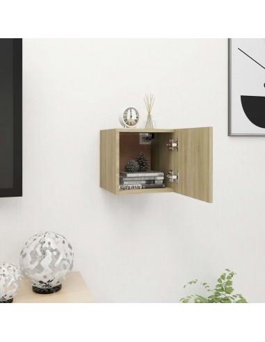 Sieninė televizoriaus spintelė, ąžuolo, 30,5x30x30cm  | Pramogų Centrai ir TV Stovai | duodu.lt