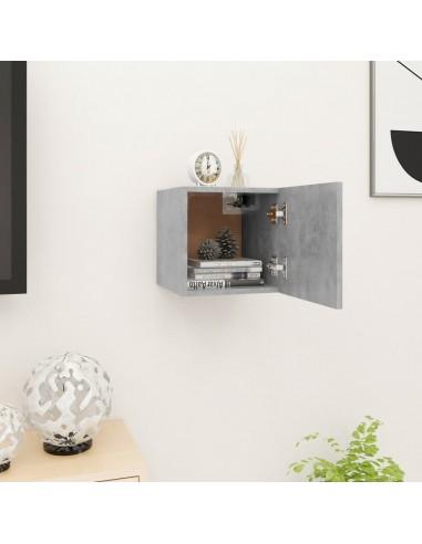 Sieninė televizoriaus spintelė, betono pilka, 30,5x30x30cm    Pramogų Centrai ir TV Stovai   duodu.lt