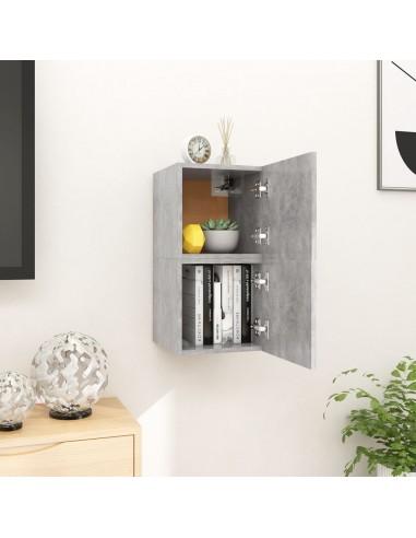 Sieninės televizoriaus spintelės, 2vnt., pilkos, 30,5x30x30cm  | Pramogų Centrai ir TV Stovai | duodu.lt