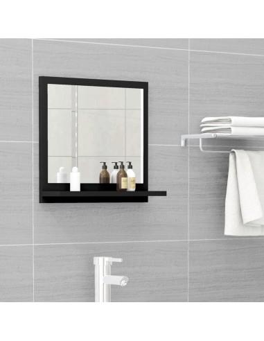 Vonios kambario veidrodis, juodos spalvos, 40x10,5x37cm, MDP   Vonios Spintelės   duodu.lt
