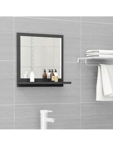 Vonios kambario veidrodis, pilkos spalvos, 40x10,5x37cm, MDP   Vonios Spintelės   duodu.lt