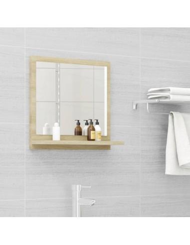 Vonios kambario veidrodis, ąžuolo spalvos, 40x10,5x37cm, MDP | Vonios Spintelės | duodu.lt
