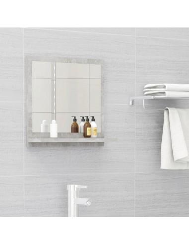 Vonios kambario veidrodis, betono pilkas, 40x10,5x37cm, MDP   Vonios Spintelės   duodu.lt
