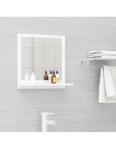 Vonios kambario veidrodis, baltas, 40x10,5x37cm, MDP, blizgus   Vonios Spintelės   duodu.lt