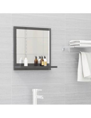Vonios kambario veidrodis, pilkas, 40x10,5x37cm, MDP, blizgus   Vonios Spintelės   duodu.lt