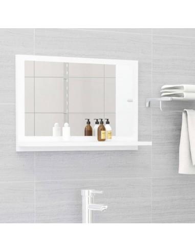 Vonios kambario veidrodis, baltos spalvos, 60x10,5x37cm, MDP | Vonios Spintelės | duodu.lt