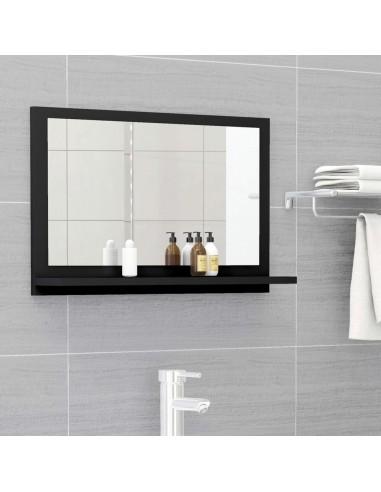 Vonios kambario veidrodis, juodos spalvos, 60x10,5x37cm, MDP | Vonios Spintelės | duodu.lt