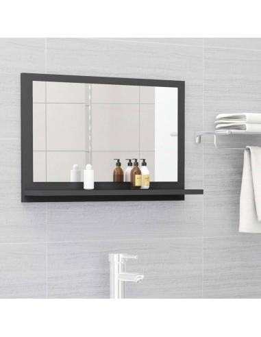 Vonios kambario veidrodis, pilkos spalvos, 60x10,5x37cm, MDP | Vonios Spintelės | duodu.lt