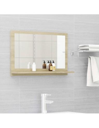 Vonios kambario veidrodis, ąžuolo spalvos, 60x10,5x37cm, MDP   Vonios Spintelės   duodu.lt