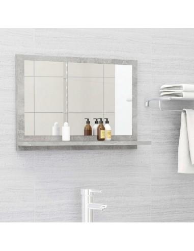 Vonios kambario veidrodis, betono pilkas, 60x10,5x37cm, MDP   Vonios Spintelės   duodu.lt