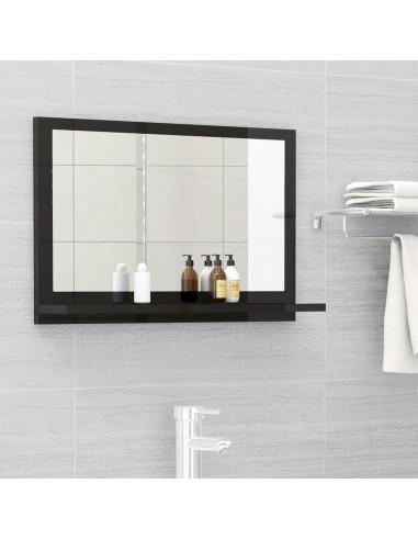 Vonios kambario veidrodis, juodas, 60x10,5x37cm, MDP, blizgus   Vonios Spintelės   duodu.lt