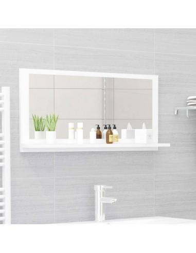 Vonios kambario veidrodis, baltos spalvos, 80x10,5x37cm, MDP   Vonios Spintelės   duodu.lt
