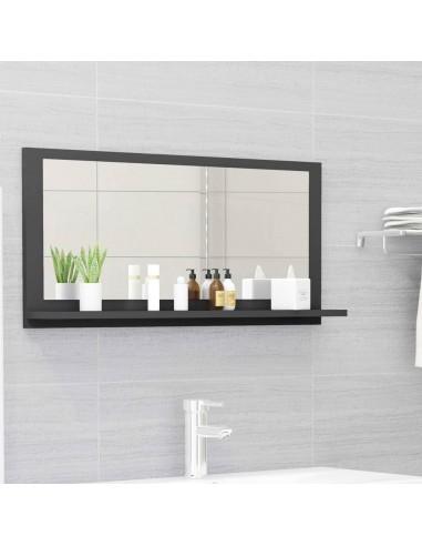 Vonios kambario veidrodis, pilkos spalvos, 80x10,5x37cm, MDP   Vonios Spintelės   duodu.lt