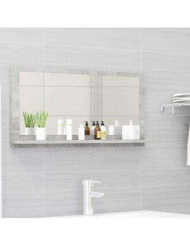 Vonios kambario veidrodis, betono pilkas, 80x10,5x37cm, MDP   Vonios Spintelės   duodu.lt
