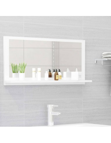 Vonios kambario veidrodis, baltas, 80x10,5x37cm, MDP, blizgus   Vonios Spintelės   duodu.lt