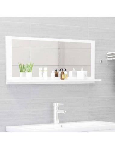 Vonios kambario veidrodis, baltos spalvos, 90x10,5x37cm, MDP | Vonios Spintelės | duodu.lt