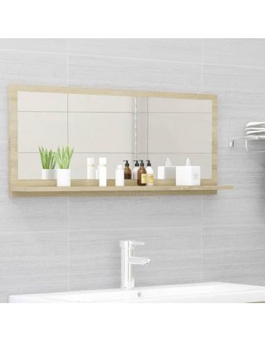 Vonios kambario veidrodis, ąžuolo spalvos, 90x10,5x37cm, MDP | Vonios Spintelės | duodu.lt