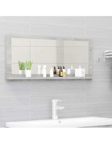 Vonios kambario veidrodis, betono pilka, 90x10,5x37cm, MDP   Vonios Spintelės   duodu.lt