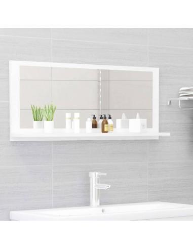 Vonios kambario veidrodis, baltas, 90x10,5x37cm, MDP, blizgus | Vonios Spintelės | duodu.lt
