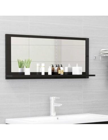 Vonios kambario veidrodis, juodas, 90x10,5x37cm, MDP, blizgus | Vonios Spintelės | duodu.lt