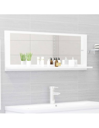 Vonios kambario veidrodis, baltos spalvos, 100x10,5x37cm, MDP   Vonios Spintelės   duodu.lt