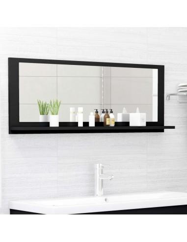Vonios kambario veidrodis, juodos spalvos, 100x10,5x37cm, MDP | Vonios Spintelės | duodu.lt