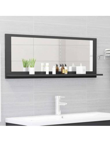 Vonios kambario veidrodis, pilkos spalvos, 100x10,5x37cm, MDP | Vonios Spintelės | duodu.lt
