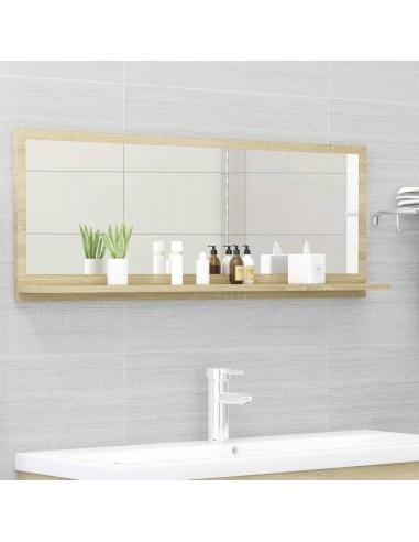 Vonios kambario veidrodis, ąžuolo spalvos, 100x10,5x37cm, MDP   Vonios Spintelės   duodu.lt