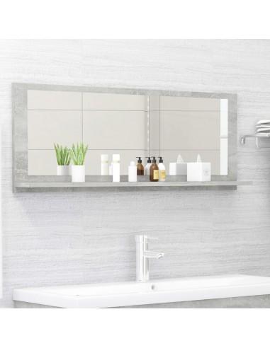 Vonios kambario veidrodis, betono pilkas, 100x10,5x37cm, MDP   Vonios Spintelės   duodu.lt