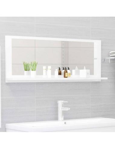 Vonios kambario veidrodis, baltas, 100x10,5x37cm, MDP, blizgus | Vonios Spintelės | duodu.lt