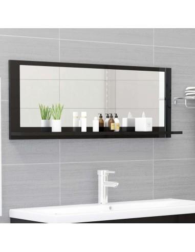 Vonios kambario veidrodis, juodas, 100x10,5x37cm, MDP, blizgus | Vonios Spintelės | duodu.lt
