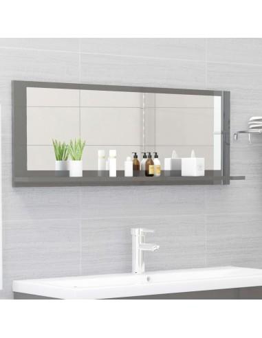Vonios kambario veidrodis, pilkas, 100x10,5x37cm, MDP, blizgus   Vonios Spintelės   duodu.lt