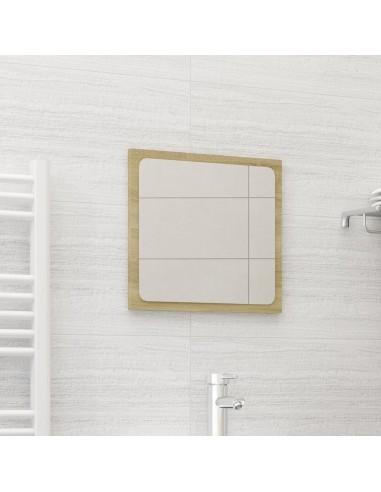 Vonios kambario veidrodis, ąžuolo spalvos, 40x1,5x37cm, MDP | Vonios Spintelės | duodu.lt