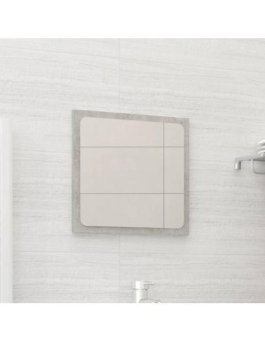 Vonios kambario veidrodis, betono pilkas, 40x1,5x37cm, MDP   Vonios Spintelės   duodu.lt