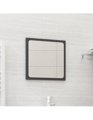 Vonios kambario veidrodis, pilkas, 40x1,5x37cm, MDP, blizgus | Vonios Spintelės | duodu.lt