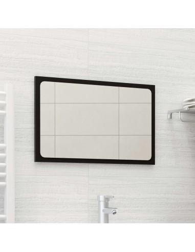 Vonios kambario veidrodis, juodos spalvos, 60x1,5x37cm, MDP | Vonios Spintelės | duodu.lt