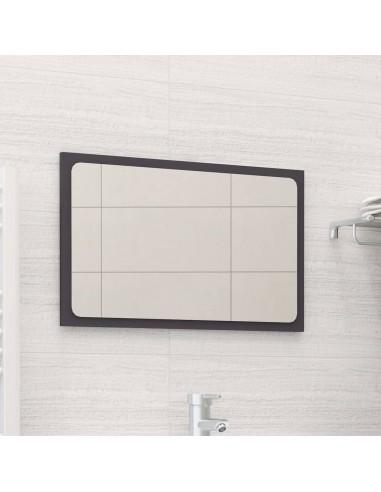 Vonios kambario veidrodis, pilkos spalvos, 60x1,5x37cm, MDP   Vonios Spintelės   duodu.lt