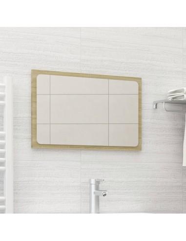 Vonios kambario veidrodis, ąžuolo spalvos, 60x1,5x37cm, MDP   Vonios Spintelės   duodu.lt