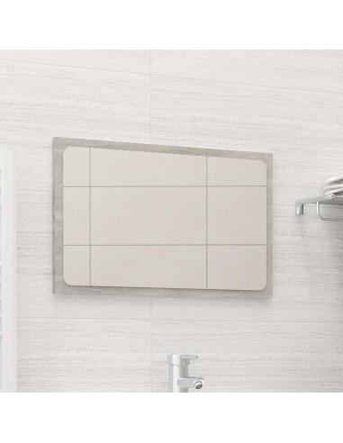 Vonios kambario veidrodis, betono pilkas, 60x1,5x37cm, MDP   Vonios Spintelės   duodu.lt