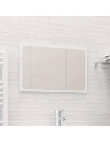 Vonios kambario veidrodis, baltas, 60x1,5x37cm, MDP, blizgus | Vonios Spintelės | duodu.lt