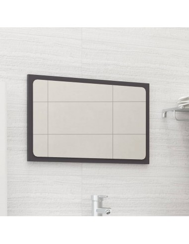 Vonios kambario veidrodis, pilkas, 60x1,5x37cm, MDP, blizgus | Vonios Spintelės | duodu.lt