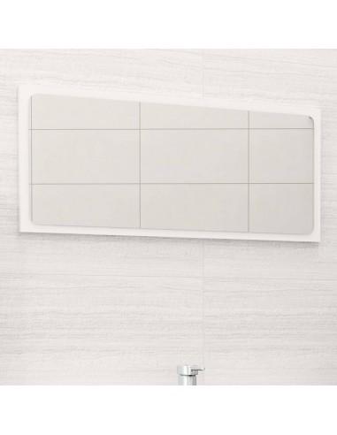 Vonios kambario veidrodis, baltos spalvos, 80x1,5x37cm, MDP   Vonios Spintelės   duodu.lt