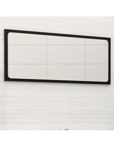 Vonios kambario veidrodis, juodos spalvos, 80x1,5x37cm, MDP | Vonios Spintelės | duodu.lt