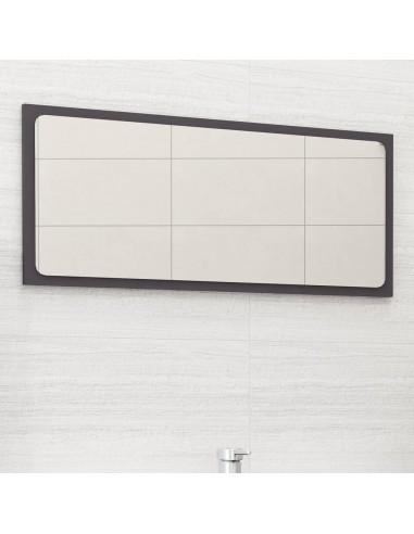 Vonios kambario veidrodis, pilkos spalvos, 80x1,5x37cm, MDP | Vonios Spintelės | duodu.lt
