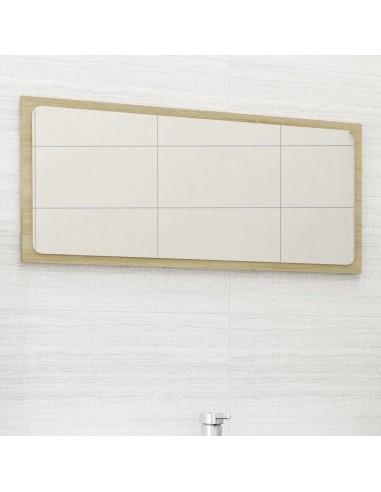Vonios kambario veidrodis, ąžuolo spalvos, 80x1,5x37cm, MDP | Vonios Spintelės | duodu.lt